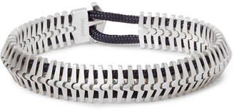 Miansai Klink Sterling Silver and Cord Bracelet