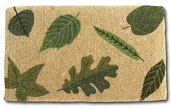Delightful Doormat - Green Leaves