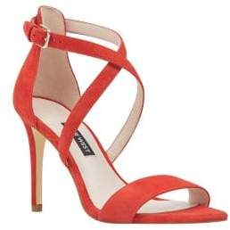 Nine West Mydebut Suede Ankle Strap Sandals