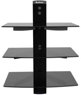 QualGear Universal Triple-Shelf Wall Mount for Most A/V Components, Black