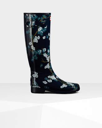 Hunter Women's Refined Blossom Print Tall Rain Boots