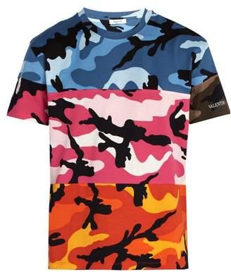 Valentino Multi Camouflage Cotton T Shirt - Mens - Multi