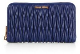 Miu Miu Miu Miu Matelasse Zip-Around Wallet