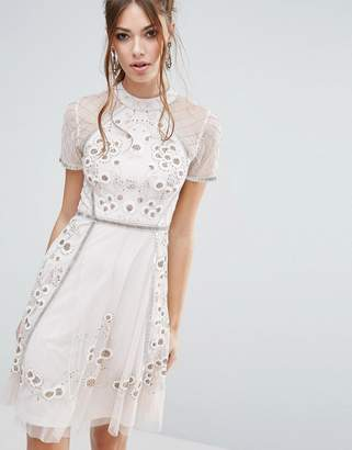 Frock and Frill Floral Embellishment Skater Dress $196 thestylecure.com