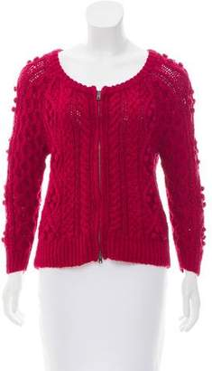 Etoile Isabel Marant Cable Knit Long Sleeve Cardigan