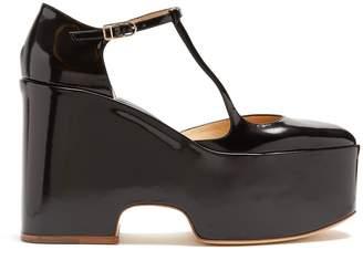 GABRIELA HEARST Cady leather Mary-Jane flatform shoes