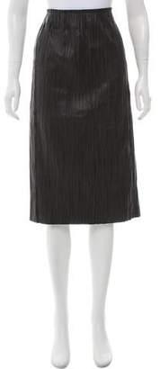 Edun Plisse Leather Skirt