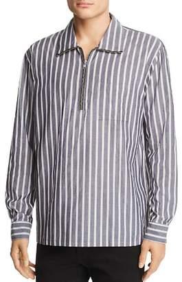 Wesc Banks Striped Half-Zip Regular Fit Pullover Shirt