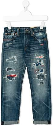 Ralph Lauren distressed regular jeans