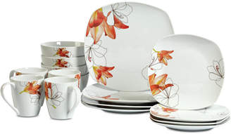 Tabletops Unlimited Lily 16-Pc. Dinnerware Set, Service for 4