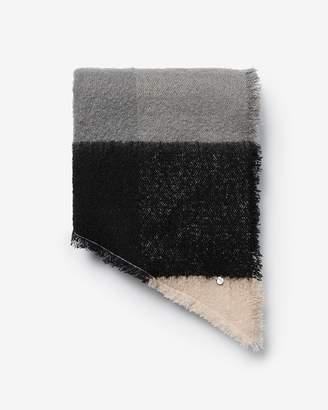 Express Color Block Striped Blanket Scarf