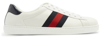 Gucci Ace Low Top Leather Trainers - Mens - White Multi
