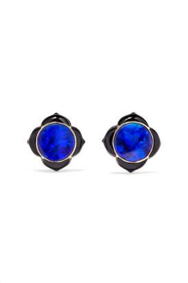 Noor Fares - Muladhara 18-karat Gold, Enamel And Opal Earrings - Blue
