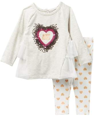 Juicy Couture Sequin Heart Tunic & Hearts Leggings Set (Baby Girls 3-9M)