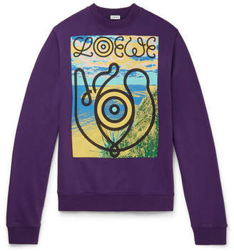 4b99208bc Eye/Loewe/Nature Printed Fleece-Back Cotton-Jersey Sweatshirt