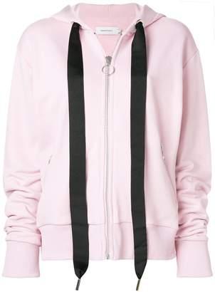 Marques Almeida Marques'almeida oversized drawstring zipped hoodie