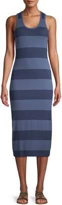 Andrew Marc Striped Midi Dress