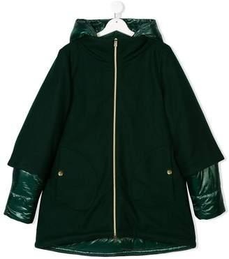 Herno Kids TEEN zip-up hooded coat