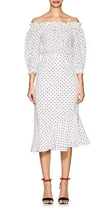 Saloni Women's Grace Polka Dot Silk Midi-Dress
