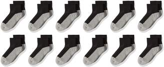 Jefferies Socks Boys' Big Boys' Seamless Toe Athletic Quarter 12 Pack