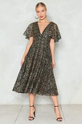 Nasty Gal Cape Going Glitter Dress