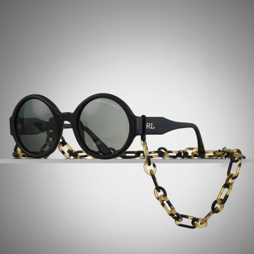 Ralph Lauren Black Label Round Sunglasses With Chain