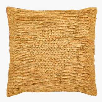 ABC Home Sil'ouette Crochet Raffia Pillow Cumin