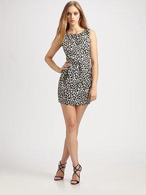 Brocade Leopard Mini Dress