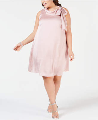 e37558d5dd9 Robbie Bee Plus Size Satin Trapeze Dress