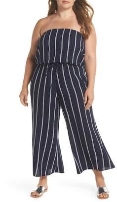 Elan International Strapless Cover-Up Jumpsuit (Plus Size)