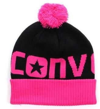 Converse Kids Junior Boys Girls Pom Pom Beanie Hat One Size
