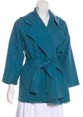 Salvatore Ferragamo Long Sleeve Belted Jacket