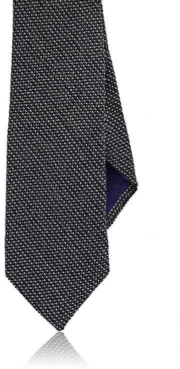 Ralph Lauren Purple LabelRalph Lauren Purple Label Men's Silk-Cashmere Grenadine Necktie-Grey