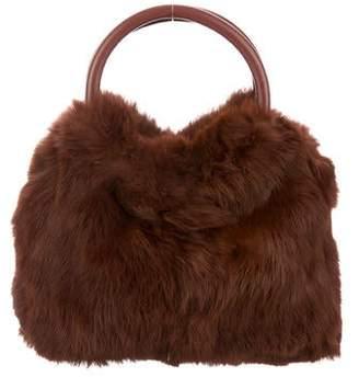 Adrienne Vittadini Fur Handle Bag