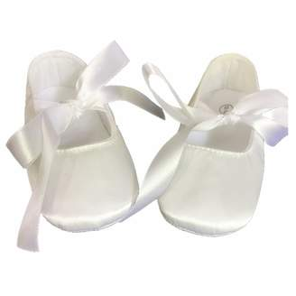 Keepsake Dollbling Christening Shop Off Silk Duplion Satin Ballet Baby Shoes Baptism