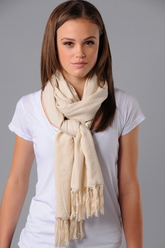 Love Quotes Long Fringe Scarf in Cashmere
