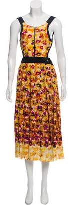 Sonia Rykiel Floral Silk Midi Dress