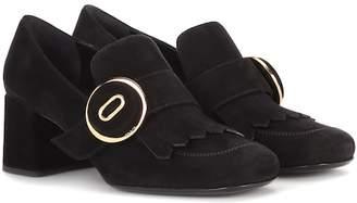 Prada Suede loafer pumps