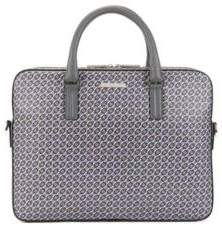 BOSS Hugo Signature Collection document case in seasonal-printed calfskin leather One Size Patterned