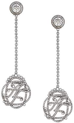 Alberta Ferretti stoned earrings
