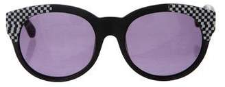 House Of Harlow Adalyn Houndstooth Sunglasses