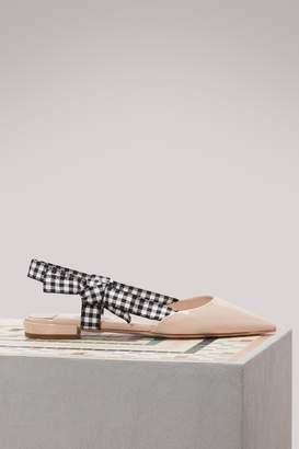 Miu Miu Vichy slingback ballet pumps