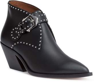 Givenchy Elegant black leather ankle boots