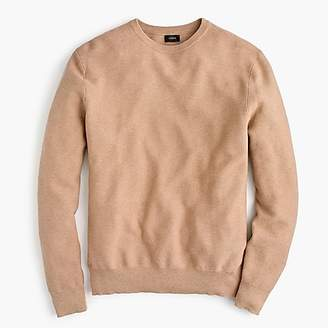 J.Crew Cotton crewneck sweater in garter stitch