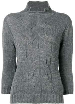 Lorena Antoniazzi three-quarter length sleeved jumper