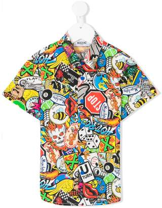 Moschino Kids pop art short sleeved shirt