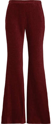 Rosetta Getty Chenille Flared Pants - Burgundy