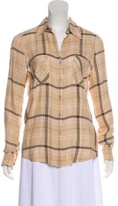 L'Agence Long Sleeve Button Up Top