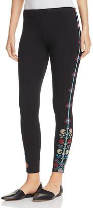 Johnny Was Clover Embroidered Leggings