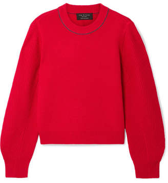 Rag & Bone Yorke Cashmere Sweater - Red